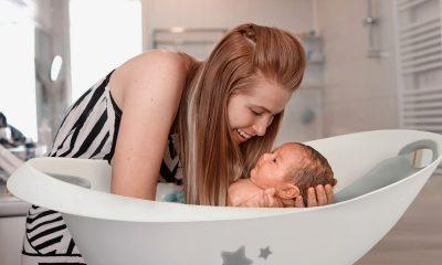 primer baño del bebe